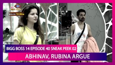Bigg Boss 14 Episode 40 Sneak Peek 02 | Nov 26 2020: Abhinav and Rubina Argue Over Jasmin