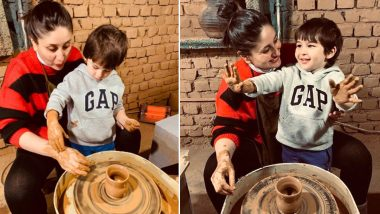Kareena Kapoor Khan and Taimur Ali Khan's Pottery Time From Dharamkot Is Full of Mud and Masti (Watch Video)