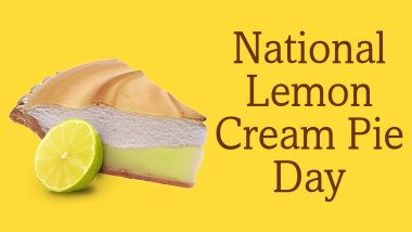 National Lemon Cream Pie Day 2020: Here's An Easy Recipe to Make This Sunny-Coloured Sweet Treat (Watch Video)