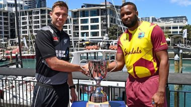 New Zealand vs West Indies 1st T20I  2020 Live Streaming Online and Match Timings in India: Get NZ vs WI Free TV Channel and Live Telecast Details