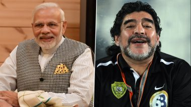 PM Narendra Modi Pays Tribute to Diego Maradona, Says 'The Argentine Was a Football Maestro Who Enjoyed Global Popularity'