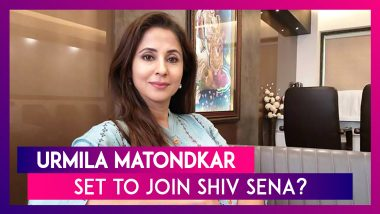 Urmila Matondkar To Join Shiv Sena? : Actor Set To Join Party On December 1 Says Sena Leader Harshal Pradhan