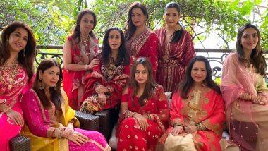 Karwa Chauth 2020: Varun Dhawan's Girlfriend, Natasha Dalal Celebrates the Festival with Maheep Kapoor, Sunita Kapoor and Others (View Pic)