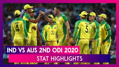 India vs Australia Stat Highlights 2nd ODI 2020: Hosts Seal Series After Steve Smith's Record Ton