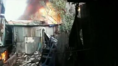 Mumbai Fire: Blaze Erupts at Godown in Kurla West; No Injuries Reported (Video)