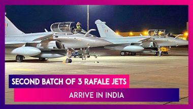Rafale Jets: Second Batch Of Three Jets Arrive In India After Flying Non-Stop From France