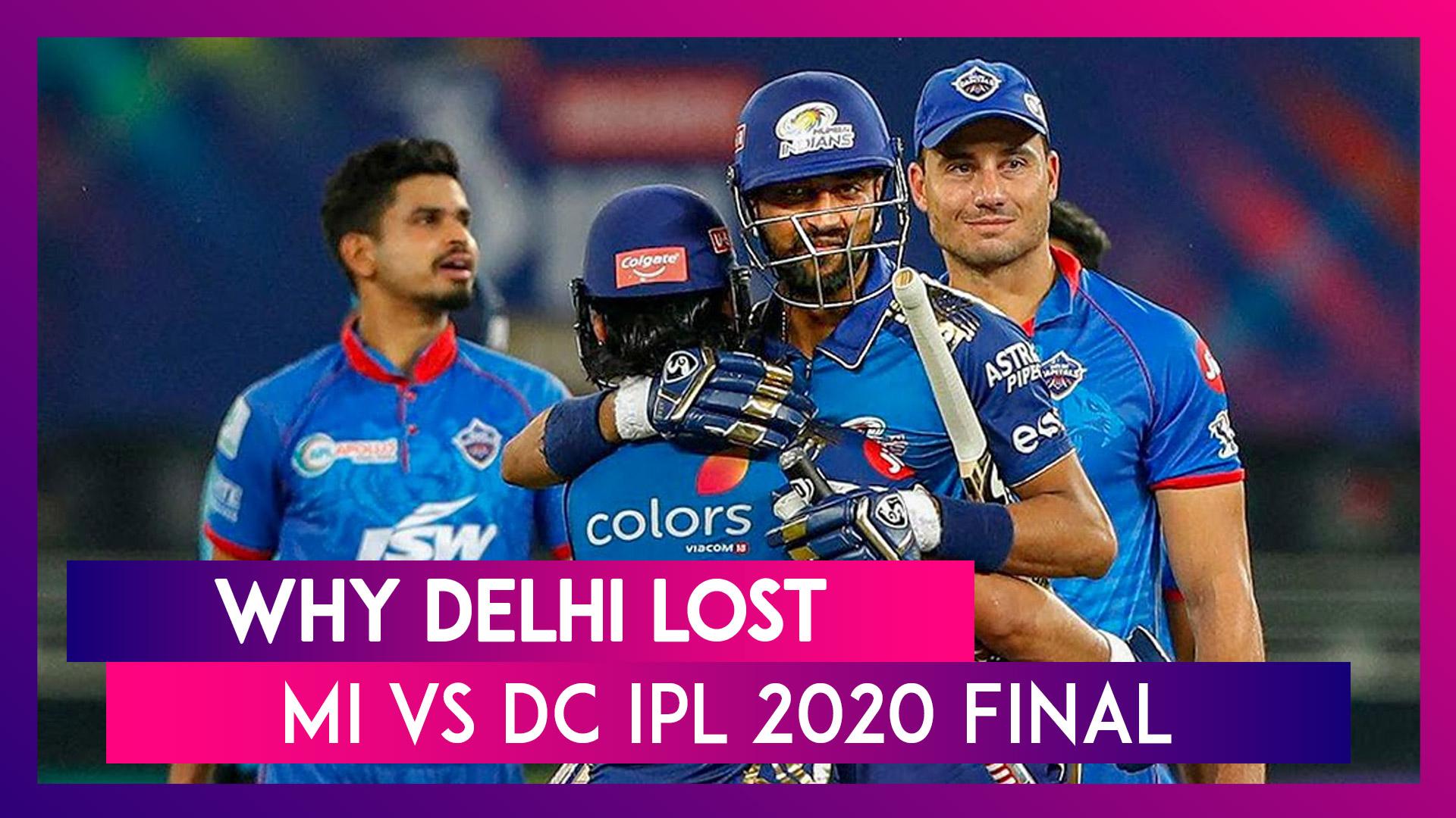 Mumbai vs Delhi IPL 2020 Final: 2 Reasons Why Mumbai Won And 3 Reasons Why Delhi Lost