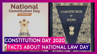 Constitution Day 2020: Date, Significance, Facts About Samvidhan Divas Or National Law Day