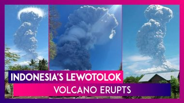 Indonesia's Lewotolok Volcano Erupts, Spews 4 Km High Ash Plume Into The Sky, Thousands Evacuated