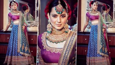 Kangana Ranaut's Custom Outfit by Anuradha Vakil is Dishing Out Some Styling Lessons for the Upcoming Wedding Season (View Pics)