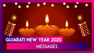 Happy New Year 2020 HD Images, Wishes in Gujarati and Bestu Varas Quotes: Nutan Varshabhinandan Greetings, Facebook Messages and Instagram Posts You Can Share on Gujarati New Year