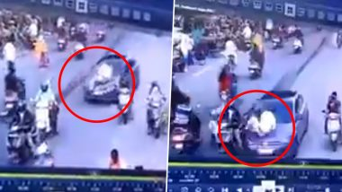 Nagpur Traffic Policeman Dragged on Car's Bonnet, Driver Arrested (Watch Video)