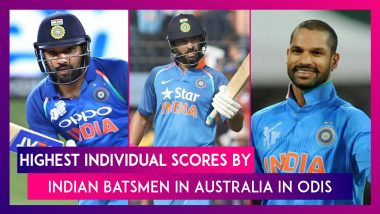 Highest Individual Scores By Indian Batsmen In Australia In ODIs