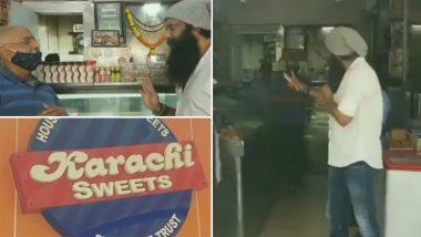 Shiv Sena Leader Nitin Nandgaonkar Asks Bandra's Karachi Sweets Owner to Change Shop Name, Video Goes Viral