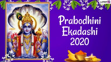Prabodhini Ekadashi 2020 Messages and HD Images: WhatsApp Stickers, Devutthana Ekadashi Wishes, Lord Vishnu Photos and Facebook Greetings to Send on Kartiki Ekadashi