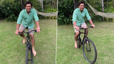 Sachin Tendulkar Shares Picture While Riding Bicycle, Gives Valuable Message Using Cricket Analogy