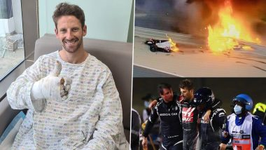 Romain Grosjean Provides Update On His Health After Horrific Crash At Bahrain GP (See Post)