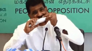 Sri Lanka's Ex-Fisheries Minister Dilip Wedaarachchi 'Eats Raw Fish' on Camera to Shun Rumours of COVID-19 Spread Through Seafood (Watch Video)
