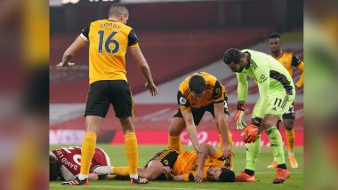 Raul Jimenez Suffers Fractured Skull After Collision With Arsenal's David Luiz, Wolves Say Striker 'Is Comfortable Following Operation'