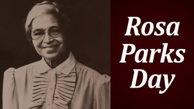 Rosa Parks Day 2020: 9 Interesting Facts About Notable American Activist, a Key Figure in Montgomery Bus Boycott
