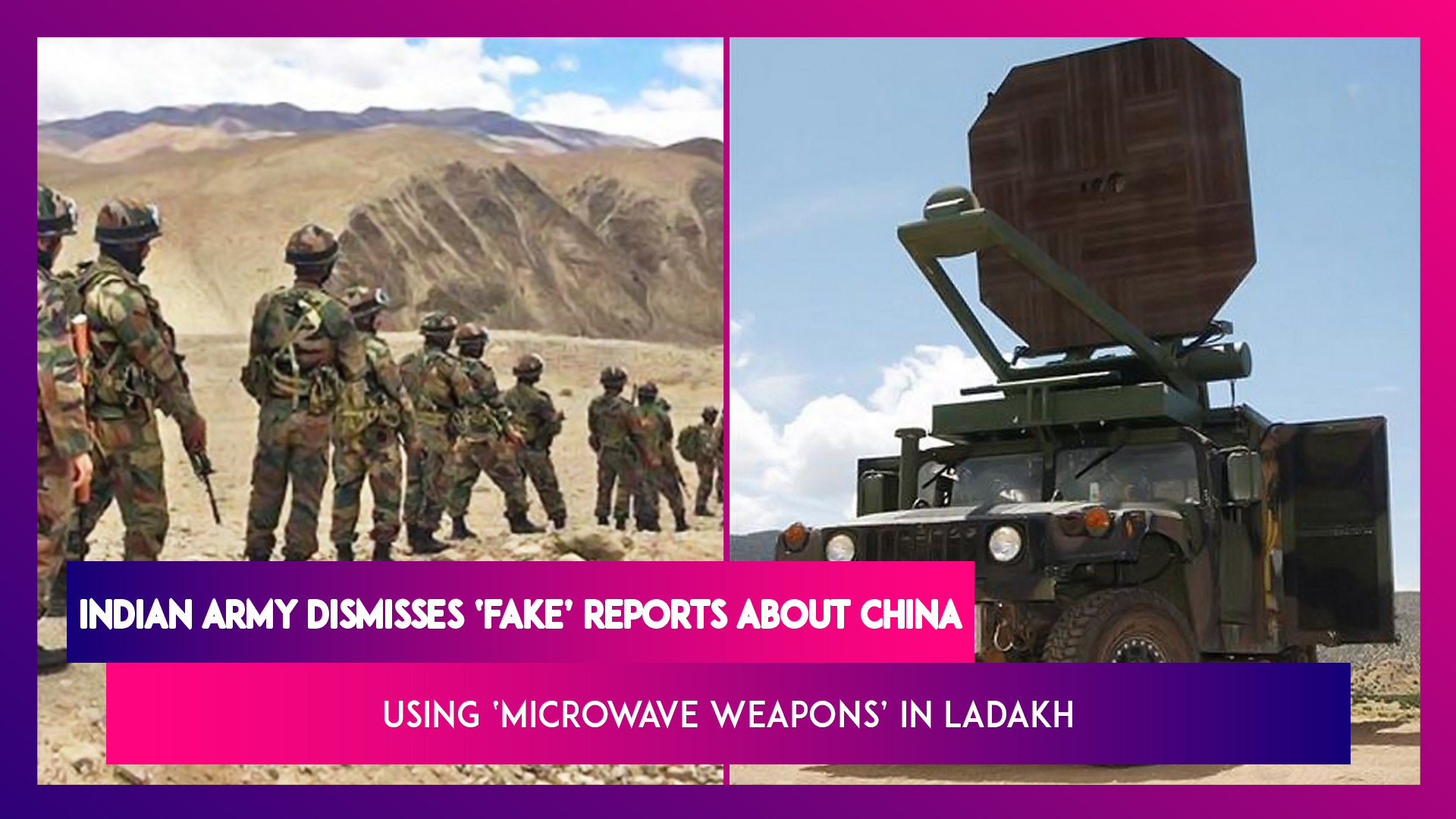 Indian Army Dismisses As 'Fake' Reports About China Using 'Microwave Weapons' In Ladakh; What Are They?
