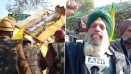 'Delhi Chalo' March Against Farm Laws: Farmers From Punjab Jump Barricades in Sirsa, Say Ready To Stay Even For A Month, Can Attain Martyrdom For Their Rights
