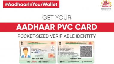 Aadhaar New PVC Card: Here Are Steps to Order it Online at uidai.gov.in