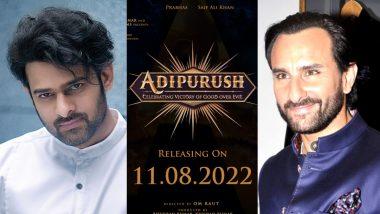 Adipurush: Prabhas and Saif Ali Khan Starrer to Hit the Screens on August 11, 2022 (View Post)