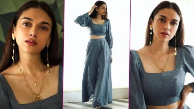 Aditi Rao Hydari Is Relaxed Chic in a Thrifty Co-Ord Set That Definitely Looks Like a Must Have!