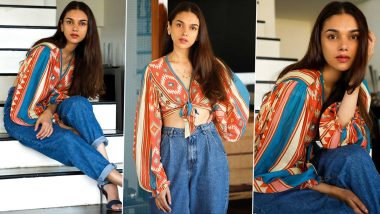 Aditi Rao Hydari Just Worked Off a Surprisingly Chic Affair of an Aztec Printed Top With Slouchy Denim!