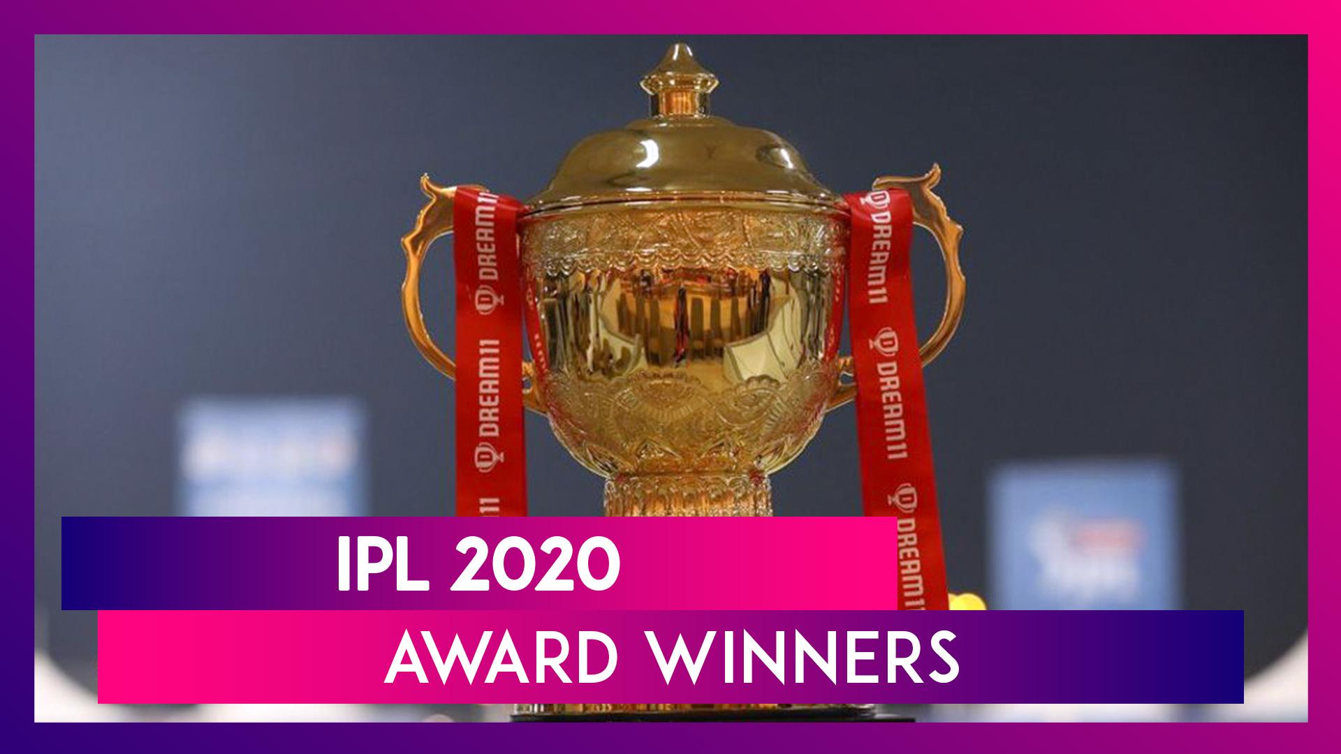 IPL 2020 Awards: MVP, Orange Cap, Purple Cap; Check Full Winners List