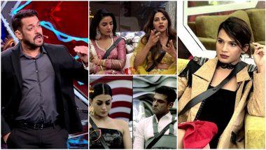 Bigg Boss 14 Weekend Ka Vaar November 8 Episode: Salman Khan Calls Out Pavitra Punia and Nikki Tamboli, Naina Singh Gets Eliminated - 5 Highlights of BB14
