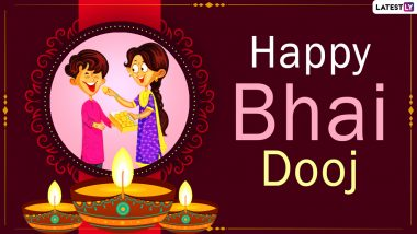 Bhai Dooj 2020 Wishes And HD Images: WhatsApp Stickers, Facebook Greetings, Instagram Stories, Wallpapers, Messages And SMS to Send on the Occasion That Celebrates the Relationship Between Brothers And Sisters