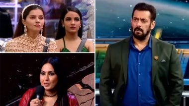 Bigg Boss 14 Weekend Ka Vaar Preview: Kamya Punjabi Grills Jasmin Bhasin; Salman Khan Reveals Shocking Deets About Finale Week (Watch Video)