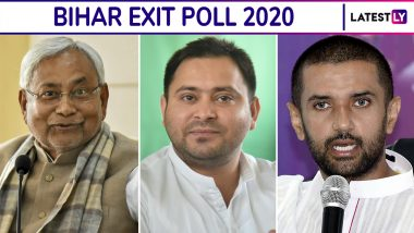 Exit Poll Results of Bihar Assembly Elections 2020: Republic TV-Jan Ki Baat Predicts Victory For RJD-Led Mahagathbandhan With 118-138 Seats, NDA Likely to be Second With 91-117 Seats