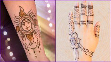 Quick 5-Minute Chhath Puja 2020 Mehndi Design Videos: Easy Sun God Mandala Designs and Finger Style Mehendi to Make Traditional Indian Henna Patterns on Sandhya Arghya