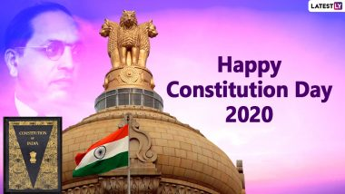 Constitution Day 2020 Wishes and Samvidhan Diwas HD Images: WhatsApp Messages, BR Ambedkar Quotes and Facebook Greetings to Send Wishes of National Law Day