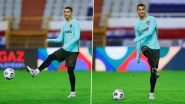 Cristiano Ronaldo Trains Hard for a Likely Comeback Against Dynamo Kyiv UCL 2020-21, Check Predicted Staring XI (Watch Video & Pics)