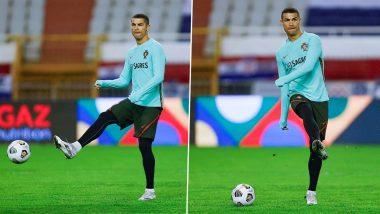Cristiano Ronaldo Sweats It Out in Training Session Ahead of Croatia vs Portugal Clash in UEFA Nations League 2020–21 (View Pics)