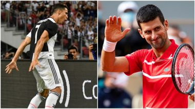 Novak Djokovic Performs Cristiano Ronaldo's Iconic 'Sii' Celebration; Juventus Star Responds (Watch Video)