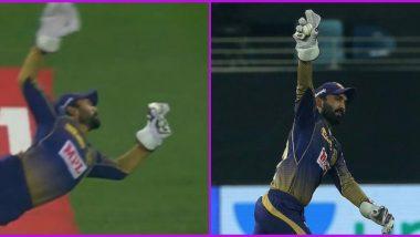 Dinesh Karthik Catch Video to Dismiss Ben Stokes is Going Viral, Twitterati Lavish Praise on KKR Wicketkeeper