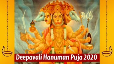 Hanuman Jayanti in Diwali 2020 Wishes and HD Images: WhatsApp Stickers, Facebook Photos, Greetings and SMS to Send Messages on Deepavali Hanuman Puja