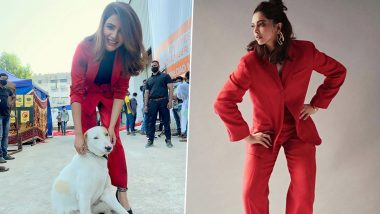 Fashion Face-Off: Deepika Padukone or Samantha Akkineni in a Red Pantsuit? Who Pulled Off the Look Better?