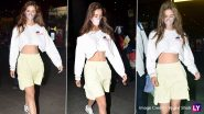 Disha Patani Looks Uber-Cool At The Aiport, Flaunts Her Toned Midriff (View Pics)