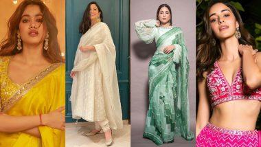 Janhvi Kapoor, Anushka Sharma, Hina Khan, Ananya Panday – Meet The Best Dressed Celebs This Diwali (View Pics)