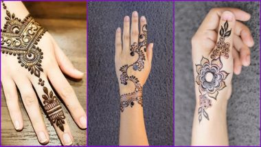 5-Minute Quick and Easy Karwa Chauth Mehndi Designs: Simple Arabic and Traditional Henna Patterns to Apply a Night Before Karva Chauth 2020 (Watch Mehendi Design Tutorial Videos)