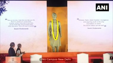 PM Narendra Modi Unveils Swami Vivekananda Statue in JNU Campus, Says 'Our Ideology Should Not Go Against National Interest'