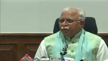 Manohar Lal Khattar-Led Haryana Govt To Grant Preparation Money of Rs 5 Lakh for Olympic Players