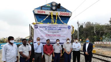 South Western Railway Flags Off First Export NMG Rake to Bangladesh from Bengaluru