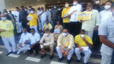 Nivar Cyclone: TDP Rally Demands Compensation to Farmers Hit by the Cyclone